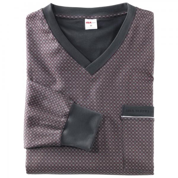 Pyjama long, short, v-neck, cuffs