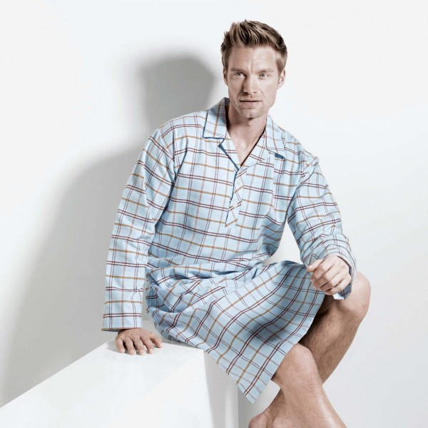 Nightshirt long sleeve, button placket