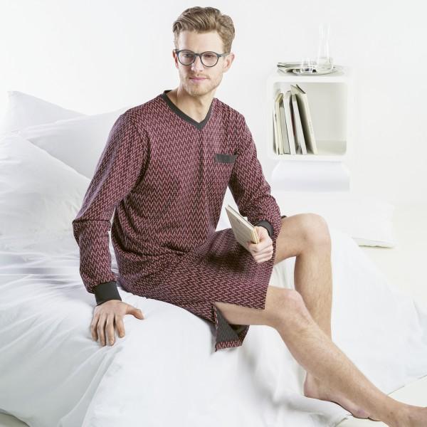 Nachthemd langarm, V-Ausschnitt