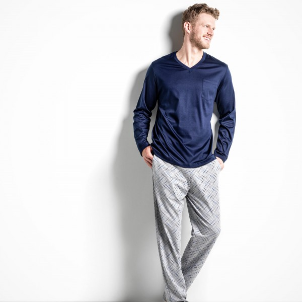Shirt manches longues, encolure en V