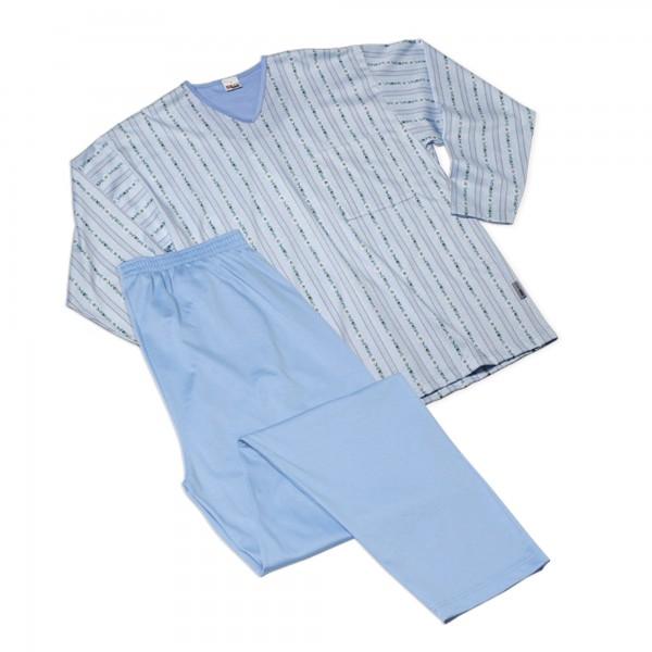 Pyjama lang, V-Ausschnitt