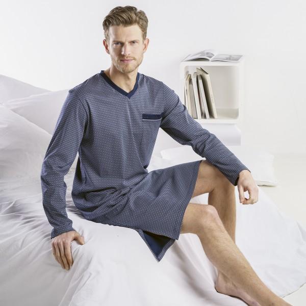 Chemise de nuit manches longues, encolure en V