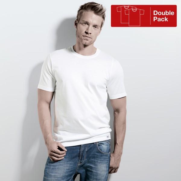 Maglietta manica corta, collo rotondo, pacco doppio