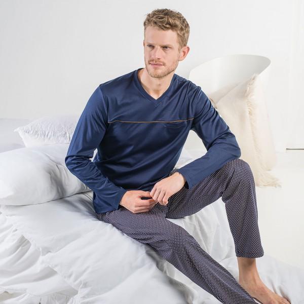 Pyjama long, encolure en V
