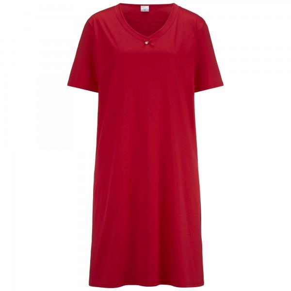Nightdress short sleeve, v-neck