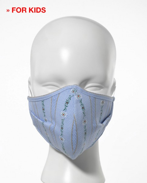 Hygiene mask for children pack of 5 ''Bauernhemd''