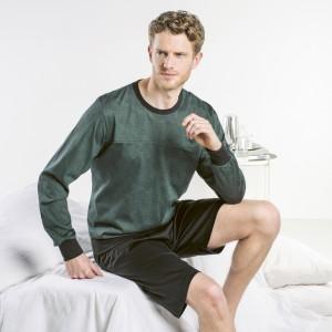 Pyjama long, court, encolure ronde, poignets serrés