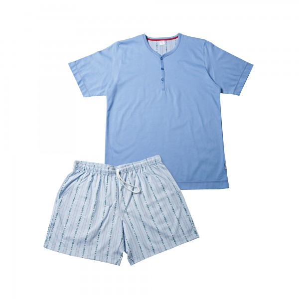 Pyjama court, patte de boutonnage