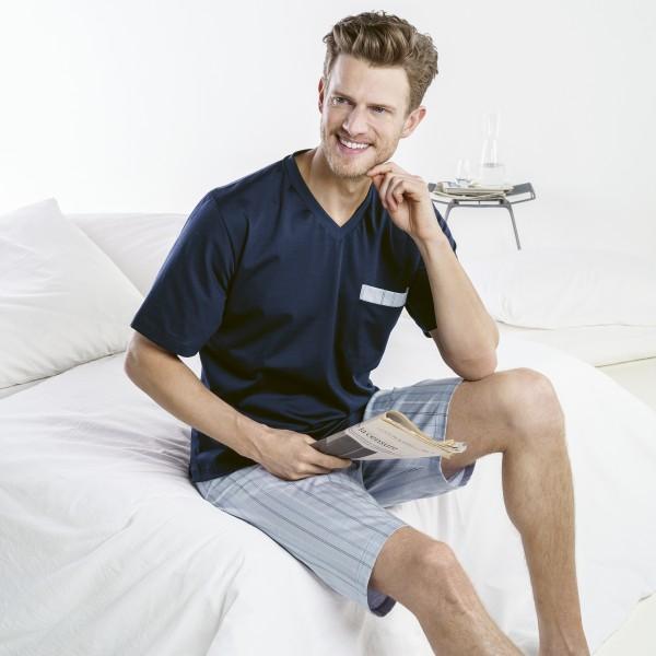 Pyjama kurz, V-Ausschnitt