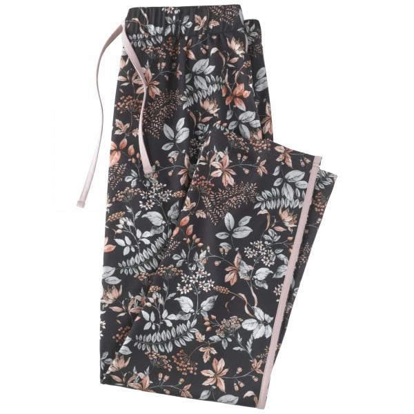 Pyjama long, pants 7, 8, round-neck