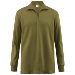 Turtleneck shirt with zipper