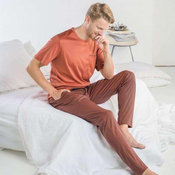Pyjama short, long, round-neck