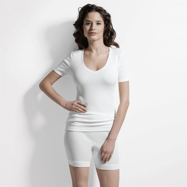 Shirt manches courtes, encolure en V ''Hermine''