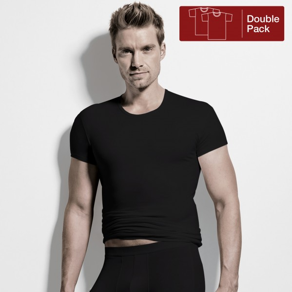 Shirt manches courtes, encolure ronde, pack de deux