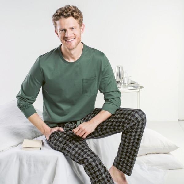 Pyjama long, encolure ronde
