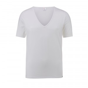 Shirt manches courtes, encolure en V