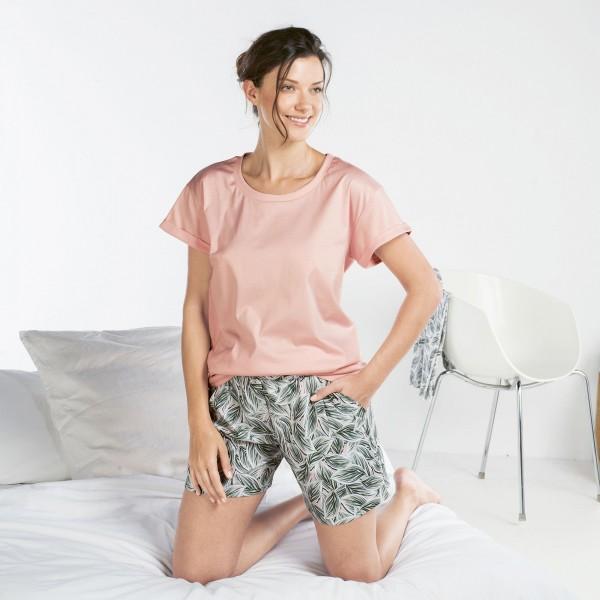 Pyjama short, round-neck