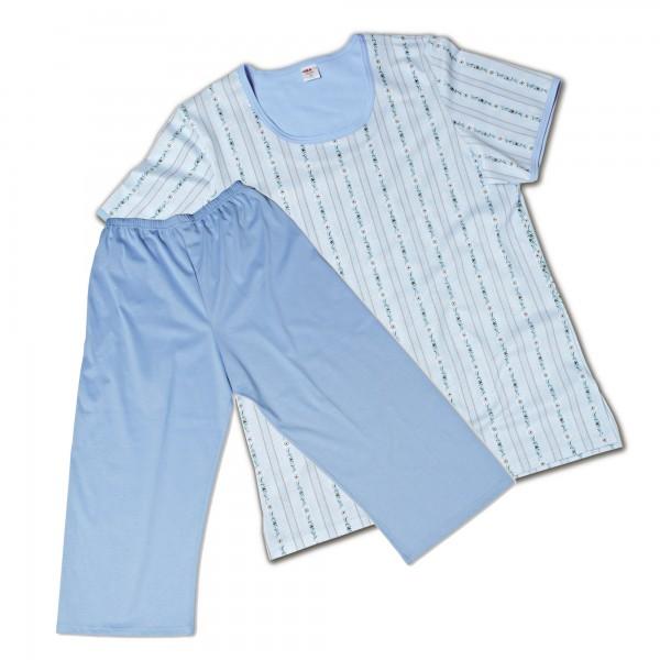 Pyjama kurz, 3/4 Hose, Rundhals