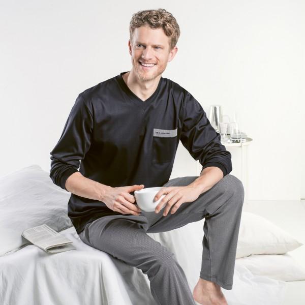 Pyjama long, v-neck