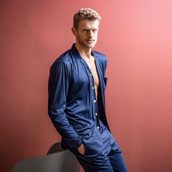 Pyjama long, buttoned