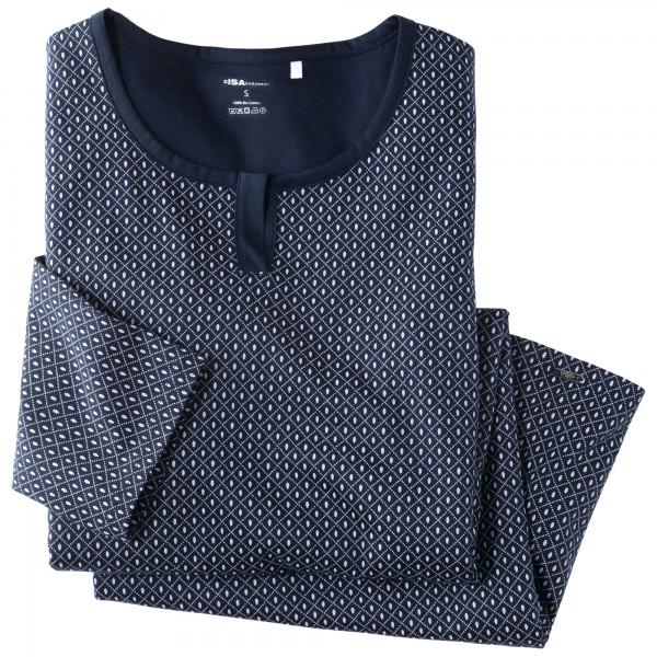 Camicia da notte manica 3, 4, collo rotondo
